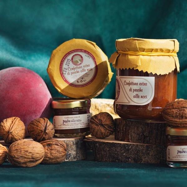 Walnut and Peach jam