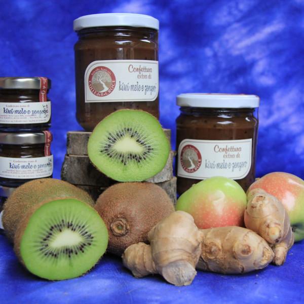 Kiwi, mele e zenzero