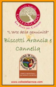 etichetta arancia e cannella